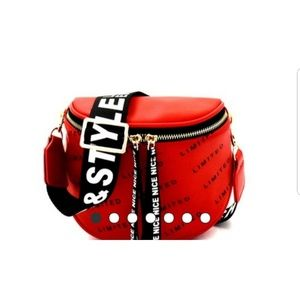 """Handbags - Red """"Limited Style"""" FannyPack/ Crossbody"""